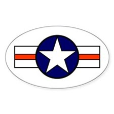 The USAF Red Stripe Shop Oval Decal