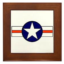 The USAF Red Stripe Shop Framed Tile
