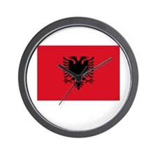 Albania Flag Picture Wall Clock
