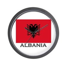 Albania Flag Stuff Wall Clock
