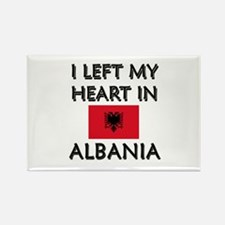 I Left My Heart In Albania Rectangle Magnet