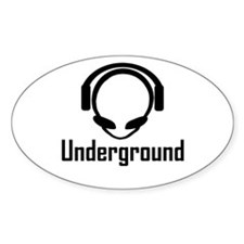 Alien Head Underground Oval Decal