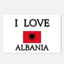 I Love Albania Postcards (Package of 8)