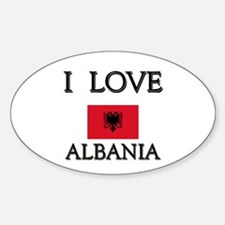 I Love Albania Oval Decal