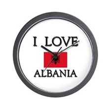 I Love Albania Wall Clock