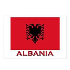 Albania Flag Merchandise Postcards (Package of 8)