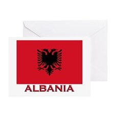 Albania Flag Merchandise Greeting Cards (Package o