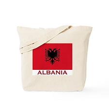 Albania Flag Merchandise Tote Bag