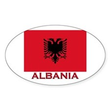 Albania Flag Merchandise Oval Decal