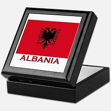 Albania Flag Merchandise Keepsake Box