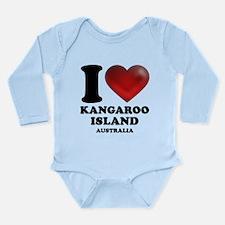 I Heart Kangaroo Island, Australia Long Sleeve Inf