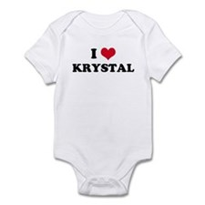 I HEART KRYSTAL Infant Creeper