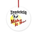 Trekkie Ornament (Round)