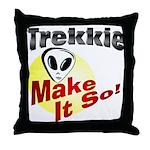 Trekkie Throw Pillow