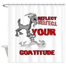 Goat Attitude Shower Curtain