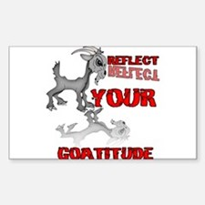 Goat Attitude Sticker (Rectangle)