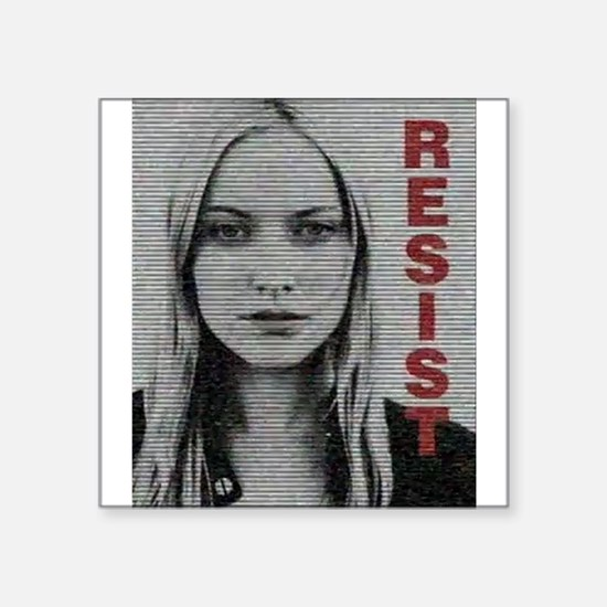 "Etta Resist Square Sticker 3"" x 3"""