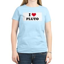 I HEART PLUTO Women's Pink T-Shirt