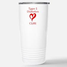 Type 1 Diabetes Cure Stainless Steel Travel Mug