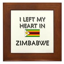 I Left My Heart In Zimbabwe Framed Tile