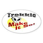 Trekkie Oval Sticker
