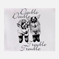 Baby Pygmy Goats Double Trouble Throw Blanket