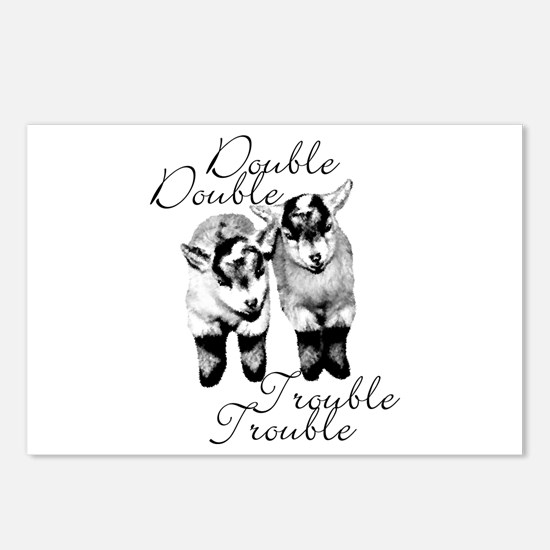 Baby Pygmy Goats Double Trouble Postcards (Package