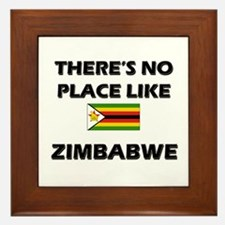 There Is No Place Like Zimbabwe Framed Tile