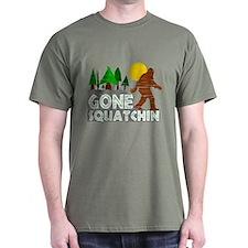 Gone Squatchin Vintage Retro Distressed T-Shirt