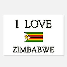 I Love Zimbabwe Postcards (Package of 8)