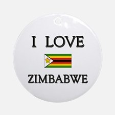 I Love Zimbabwe Ornament (Round)