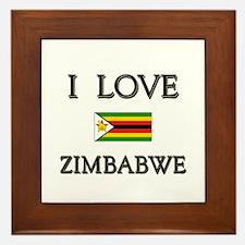 I Love Zimbabwe Framed Tile