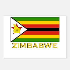 Zimbabwe Flag Merchandise Postcards (Package of 8)