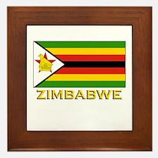 Zimbabwe Flag Merchandise Framed Tile
