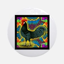 Andalusian Rooster Deco Ornament (Round)