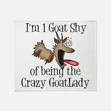 Crazy Goat Lady Throw Blanket