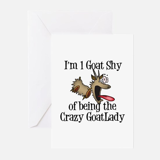 Crazy Goat Lady Greeting Cards (Pk of 10)