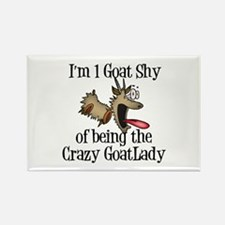 Crazy Goat Lady Rectangle Magnet
