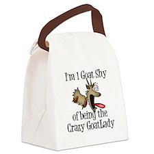 Crazy Goat Lady Canvas Lunch Bag