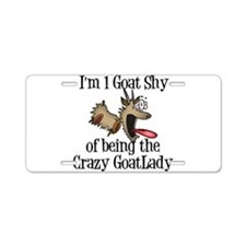 Crazy Goat Lady Aluminum License Plate