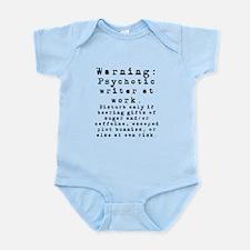 Caution: Writer at Work Infant Bodysuit