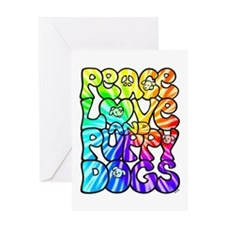 PeaceLovePuppyDogs2Tie-Dye Greeting Card