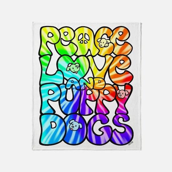 PeaceLovePuppyDogs2Tie-Dye Throw Blanket