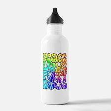 PeaceLovePuppyDogs2Tie-Dye Water Bottle