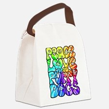 PeaceLovePuppyDogs2Tie-Dye Canvas Lunch Bag