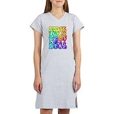 PeaceLovePuppyDogs2Tie-Dye Women's Nightshirt
