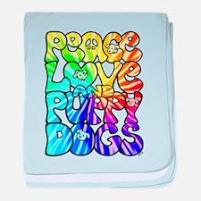 PeaceLovePuppyDogs2Tie-Dye baby blanket