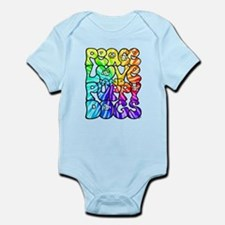 PeaceLovePuppyDogs2Tie-Dye Infant Bodysuit