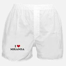 I HEART MIRANDA Boxer Shorts