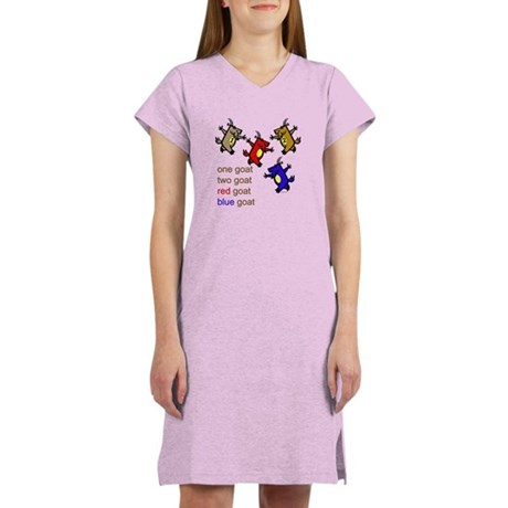 One Goat, Two Goat, Red Goat, Blue Goat Women's Ni